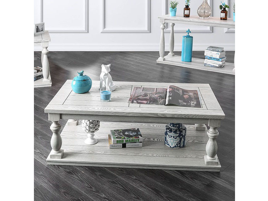 Arlington Antique White Coffee Table