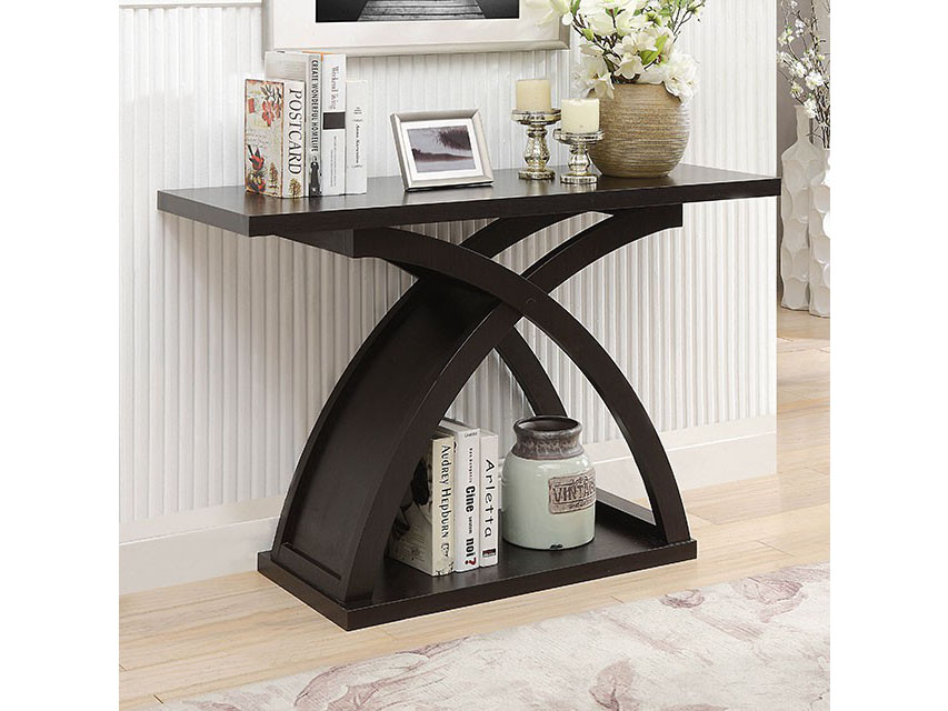 Arkley Espresso Sofa Table