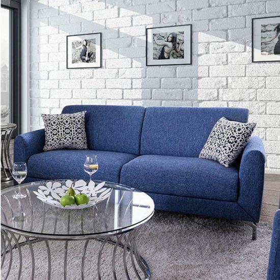 Lauritz Blue Sofa Set