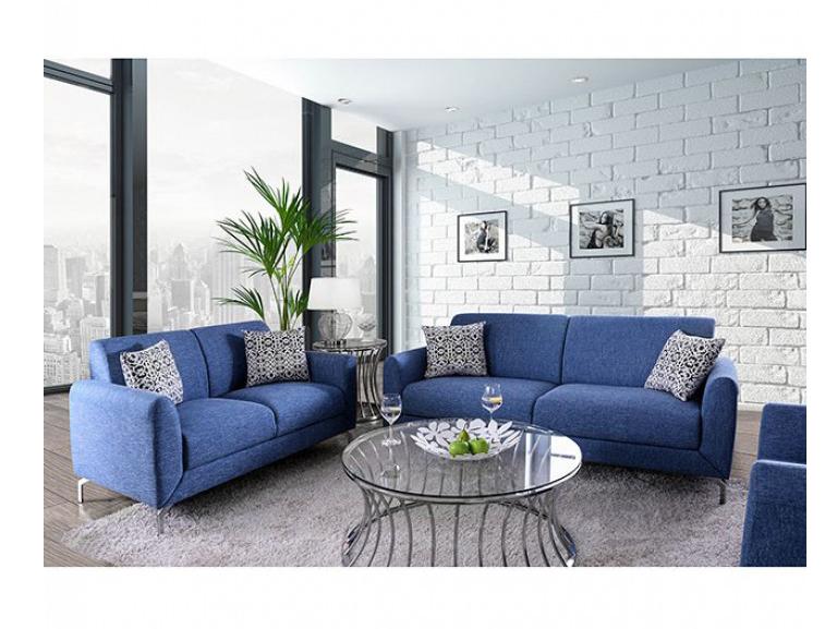 Attirant Lauritz Blue Sofa Set