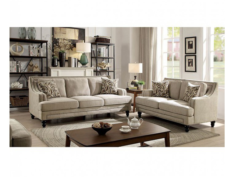 Everly Beige Sofa Set