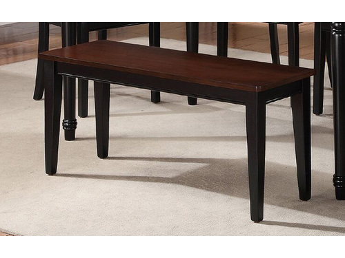Delicieux Rubber Wood Dining Bench In Cherry/Black