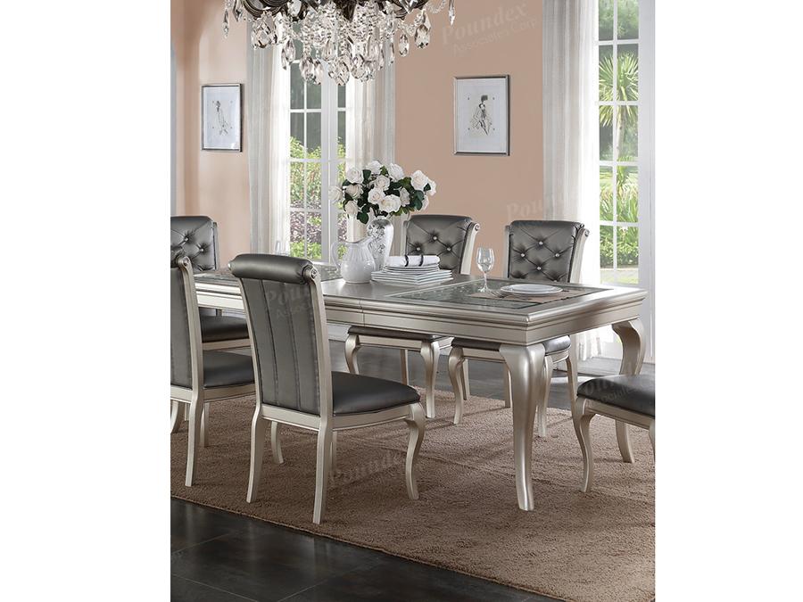 Attirant Antique Silver Dining Table