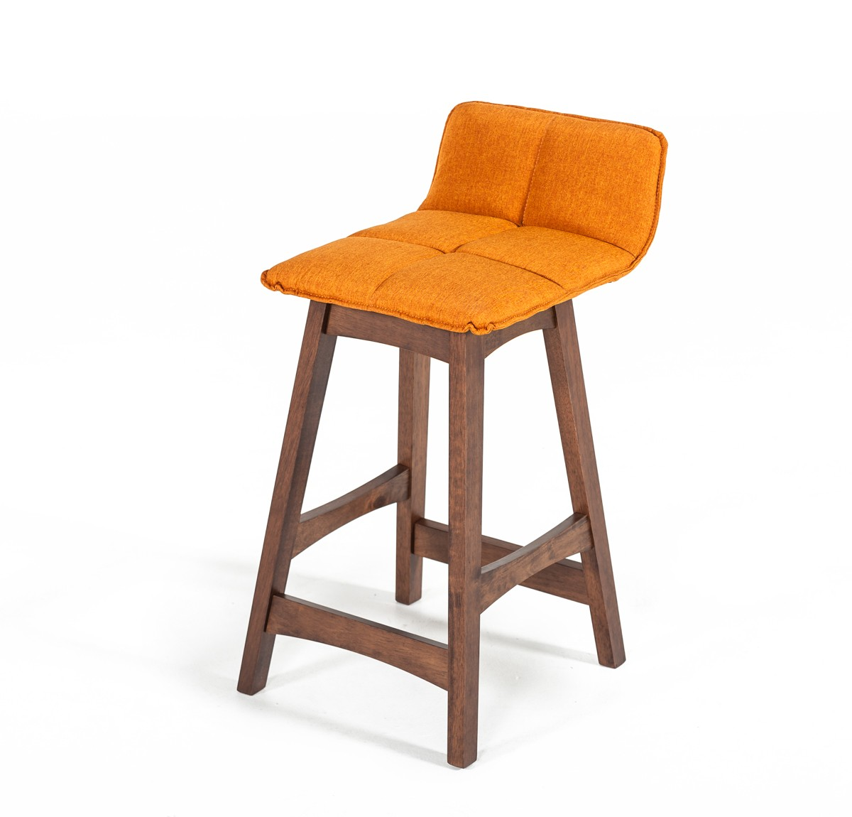 2pcs Orange Amp Walnut Bar Stool Shop For Affordable Home