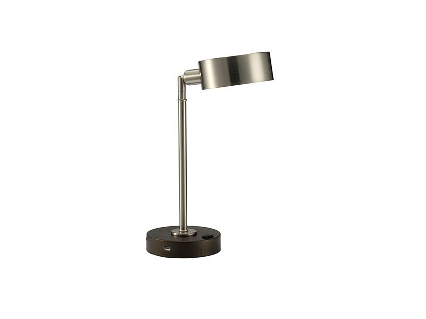 Gail Stain Nickel Table Lamp