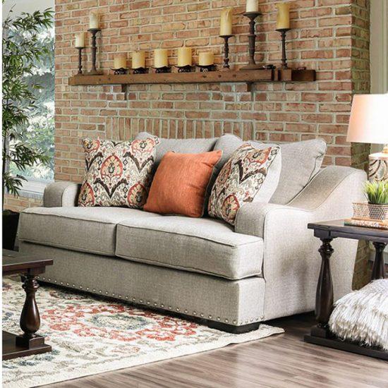 Jayne Light Gray Sofa Set