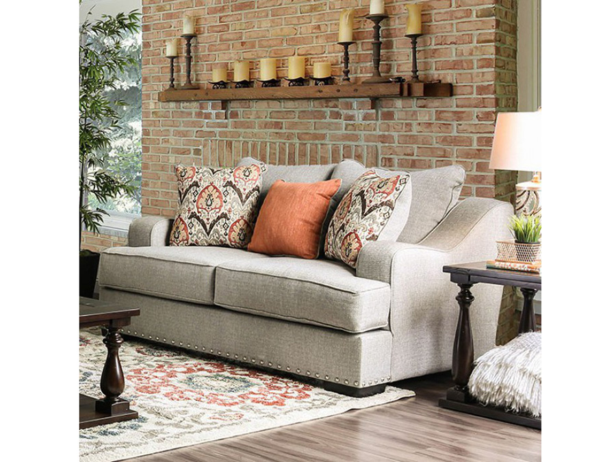 Jayne Light Gray Love Seat