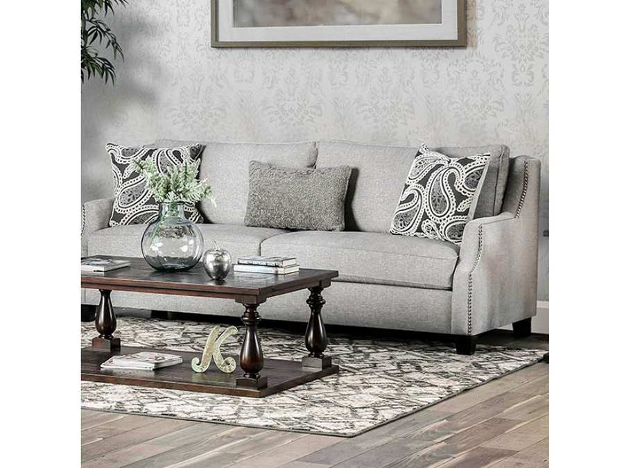 Merveilleux Madalyn Light Gray Sofa