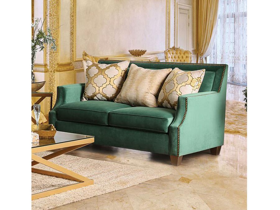 Verdante Emerald Green Love Seat