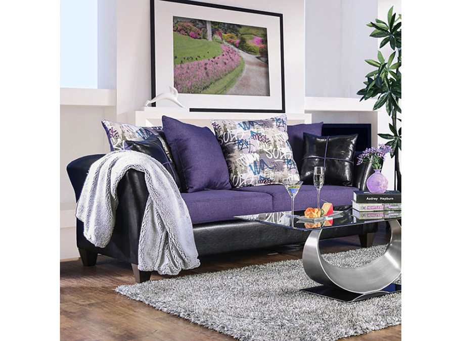 Kaelyn Black Purple Sofa Shop For Affordable Home Furniture Decor