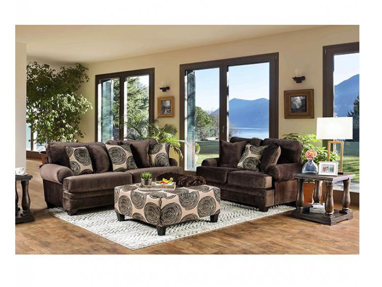 Bonaventura Brown Sofa Set
