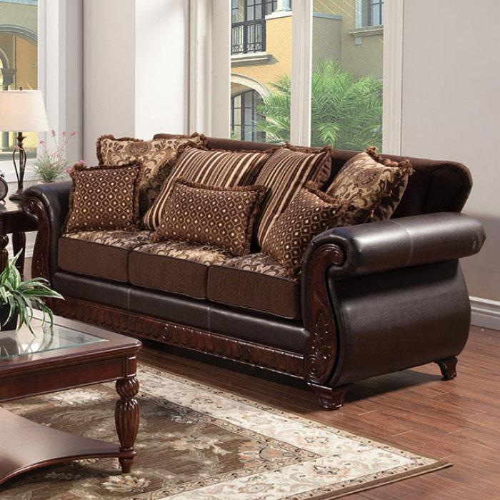 Franklin dark brown sofa set shop for affordable home for Affordable furniture franklin la