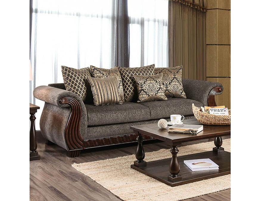 Mikayla Charcoal Sofa