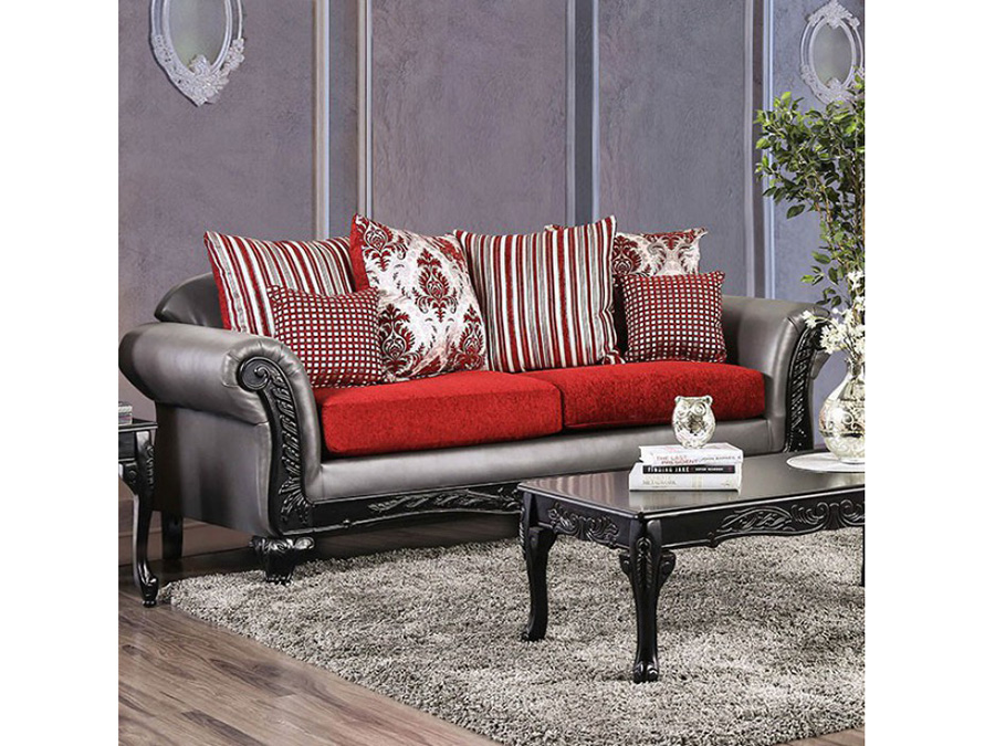 Midleton Gray Red Sofa