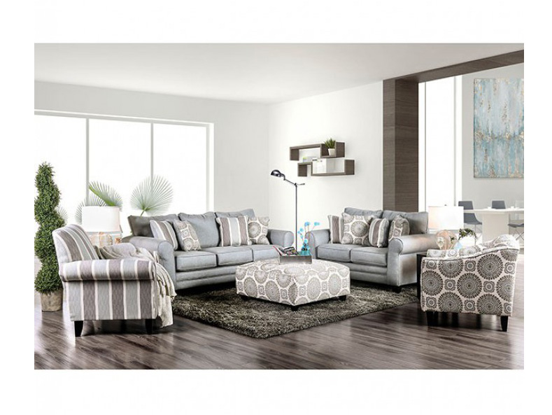 Merveilleux Misty Blue Sofa Set