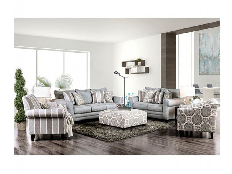 Misty Blue Sofa Set