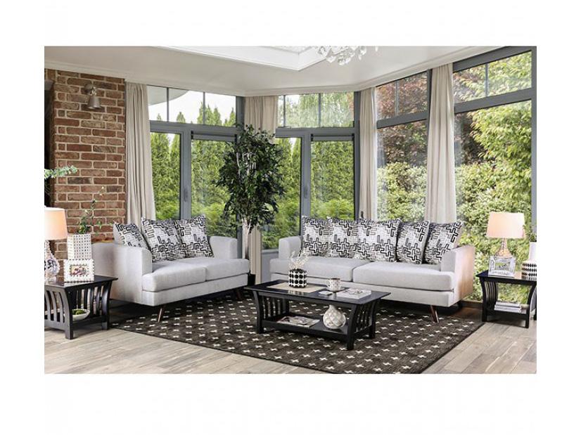 Blaenavon Silver Sofa Set