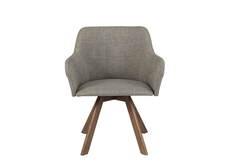 2pcs Sampson Fabric Arm Chair In Light Gray Shop For