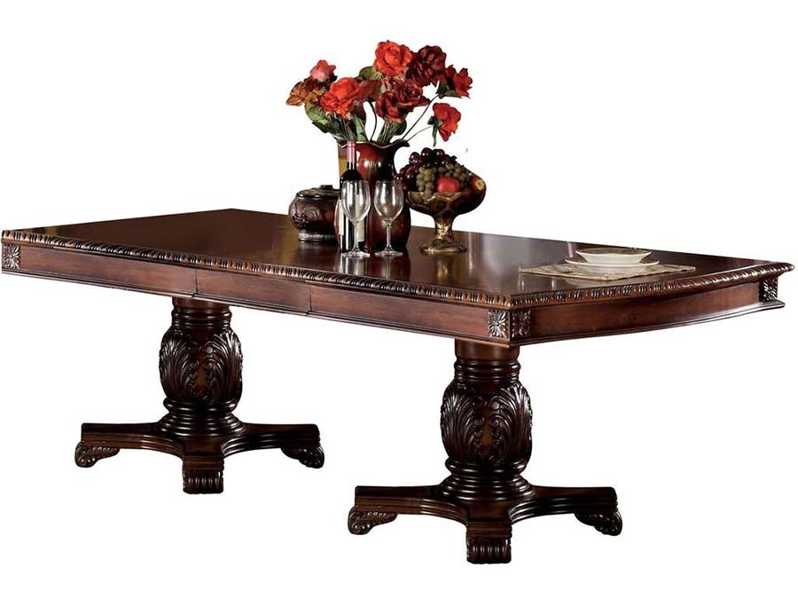 Chateau de ville cherry dining table set leaves shop for for Affordable furniture ville platte la