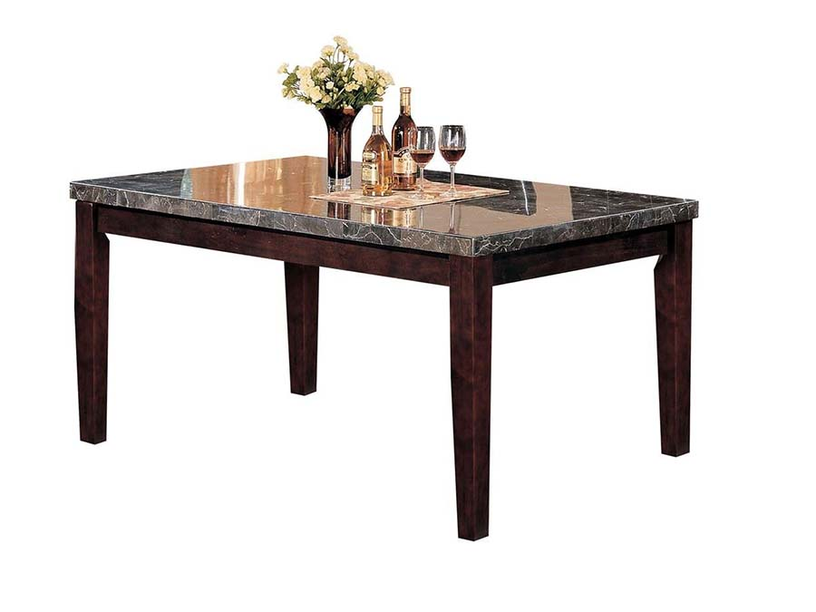 Danville Dining Table With Black Faux Marble Top