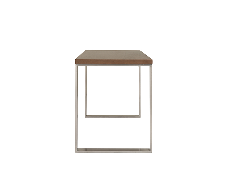 Dillon Desk In American Walnut With Brushed Stainless Steel Base