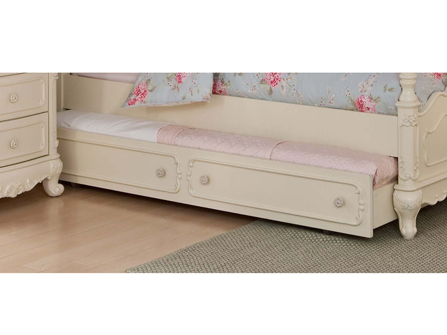 Cinderella White Twin Canopy Bed With Trundle - Shop for ...