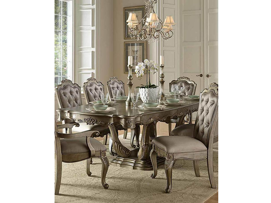 Florentina Dining Table In Silver/Gold