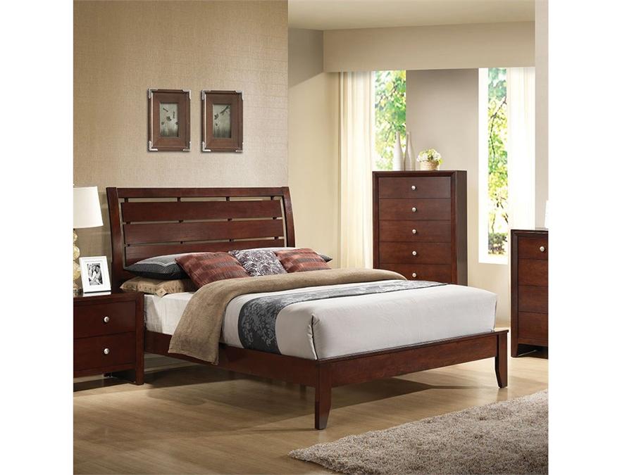 Ilana Queen Bed in Brown Cherry Ilana