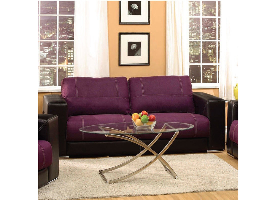 Brayden Purple And Black Sofa