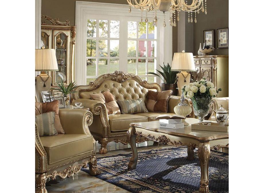 Dresden Gold Sofa Set