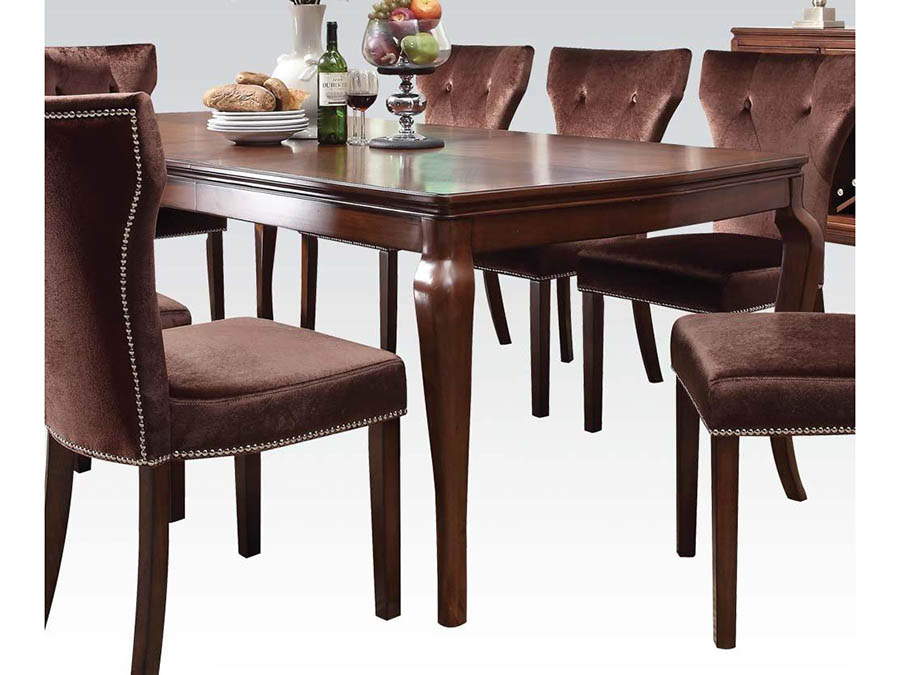 Kingston Dining Table In Brown Cherry