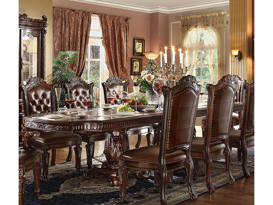Vendome Double Pedestal Dining Table in Cherry
