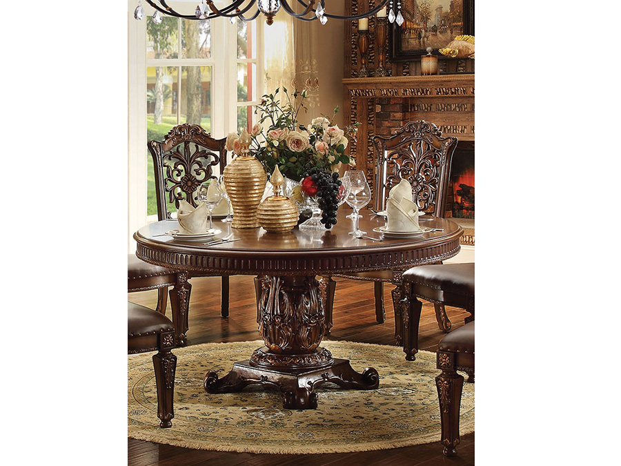 Vendome 60\'\' Round Dining Table in Cherry