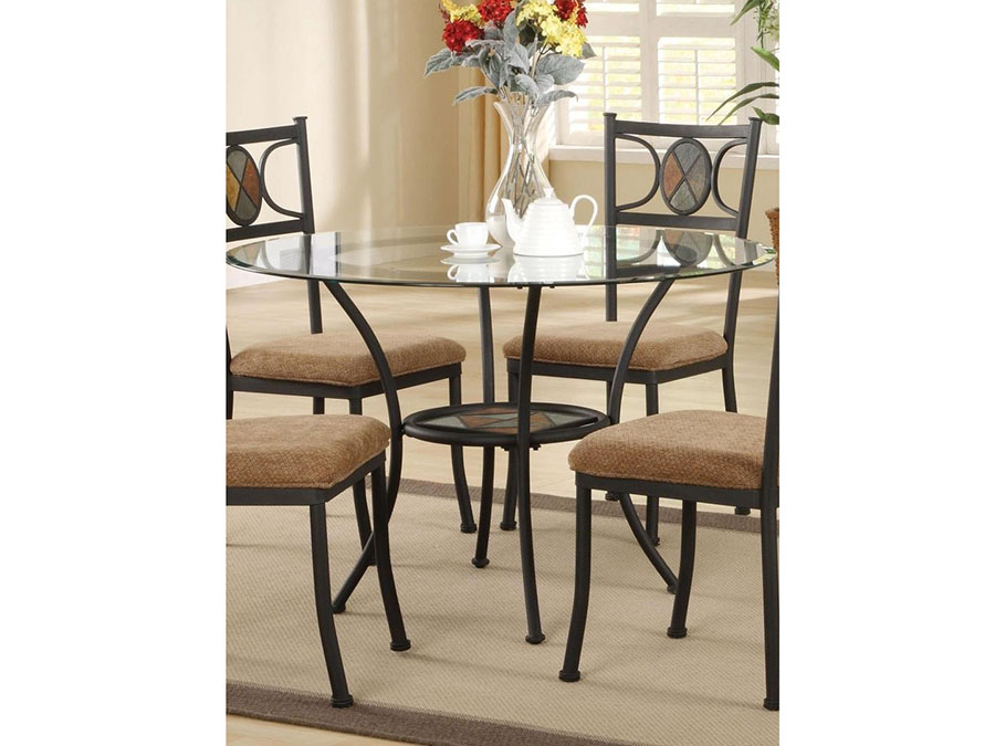 Desi Dining Table In Slate Inlay Shop For Affordable Home - Dining table with slate inlay
