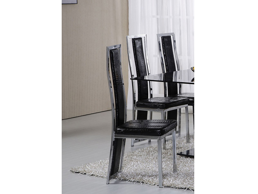 Groovy Jercy 6Pcs Dining Chair In Black Bralicious Painted Fabric Chair Ideas Braliciousco