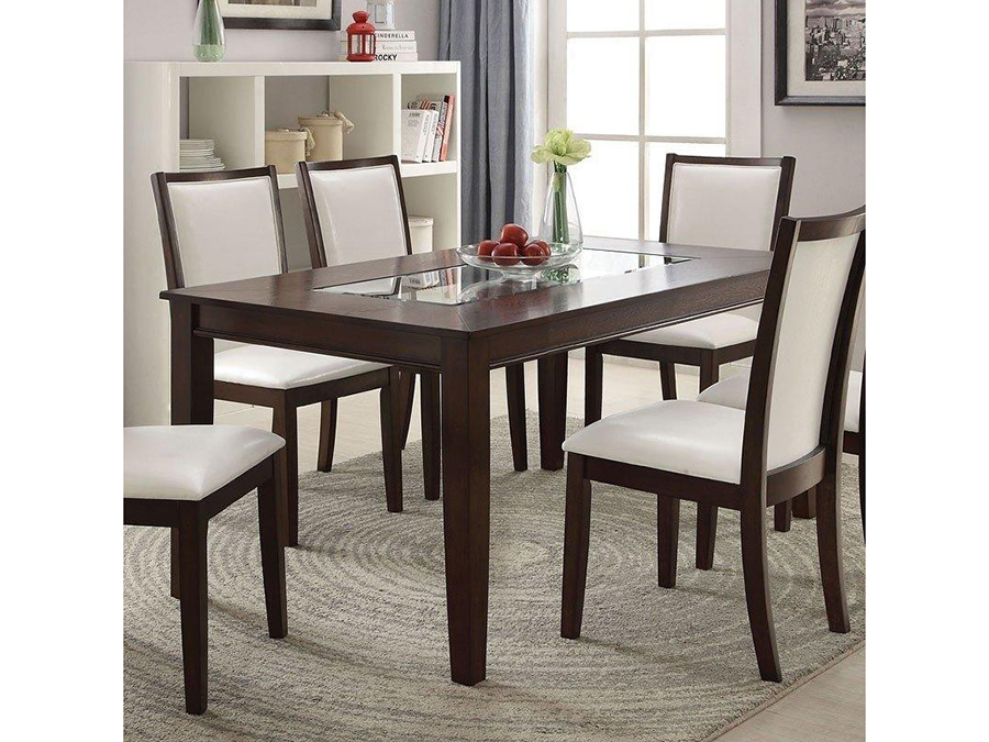 dining table with insert counter height dining table wglass insert top shop for affordable home furniture