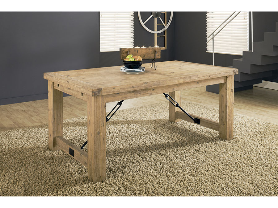 Autumn Rustic Solid Wood Dining Table With Leaves