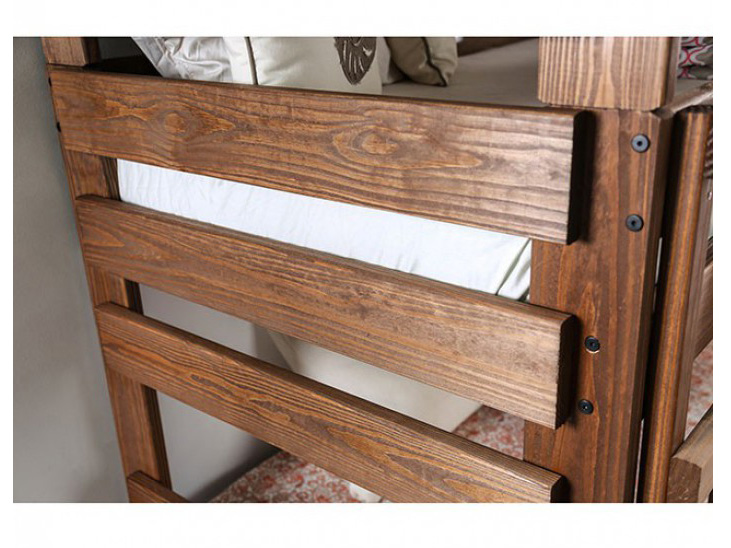 Pollyanna Twin Triple Decker Bed In Mahogany Shop for