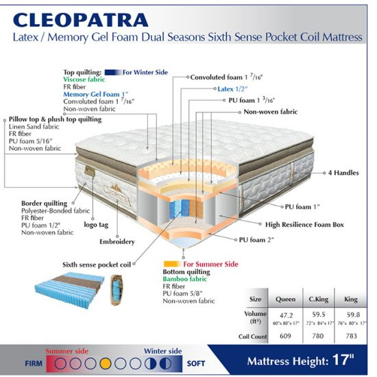 La Cleopatra Pillow Top Dual Season Queen Mattress Shop For Affordable Home Furniture Decor
