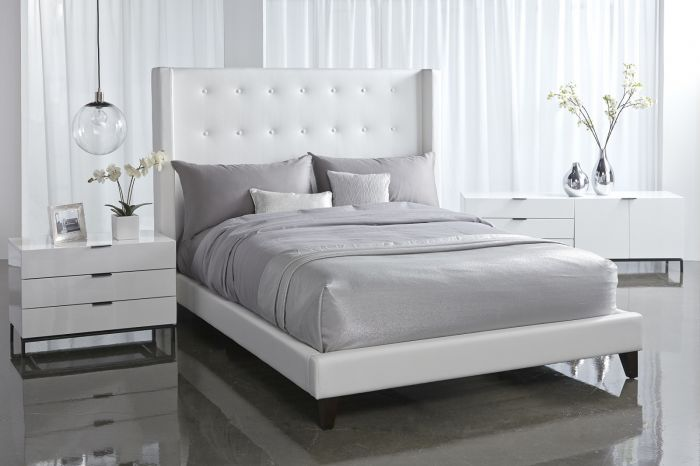 Basix Rialto Queen Bed In White Shop For Affordable Home