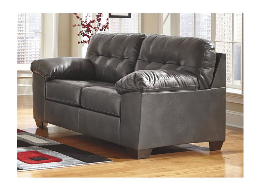Alliston Durablend Gray Love Seat Shop For Affordable