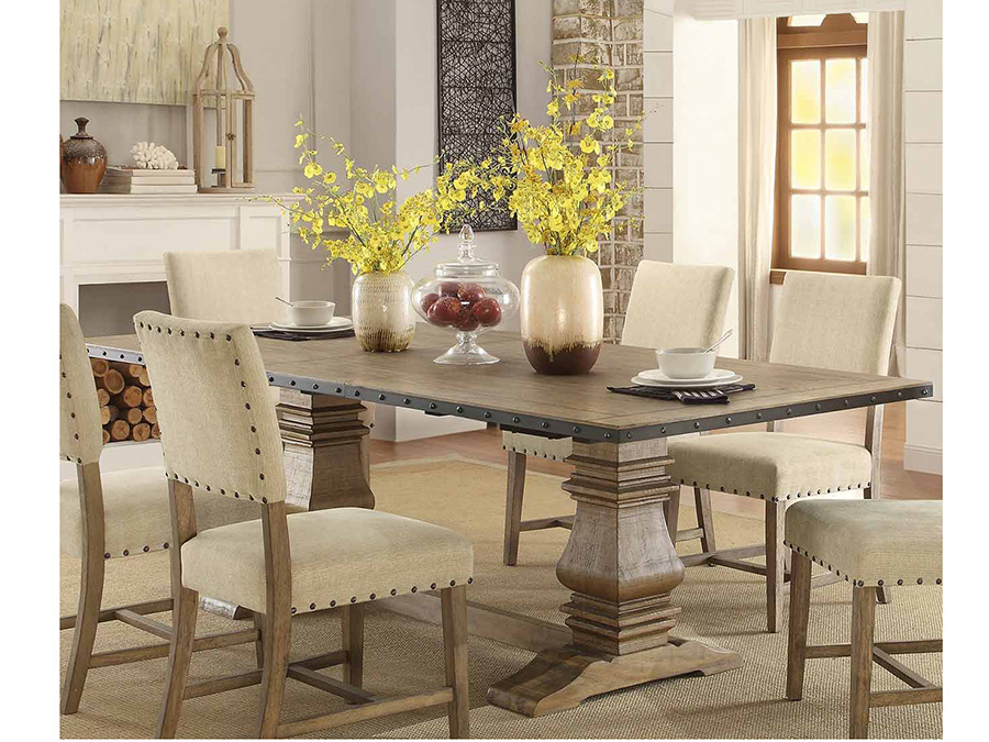 Veltry Double Pedestal Dining Table