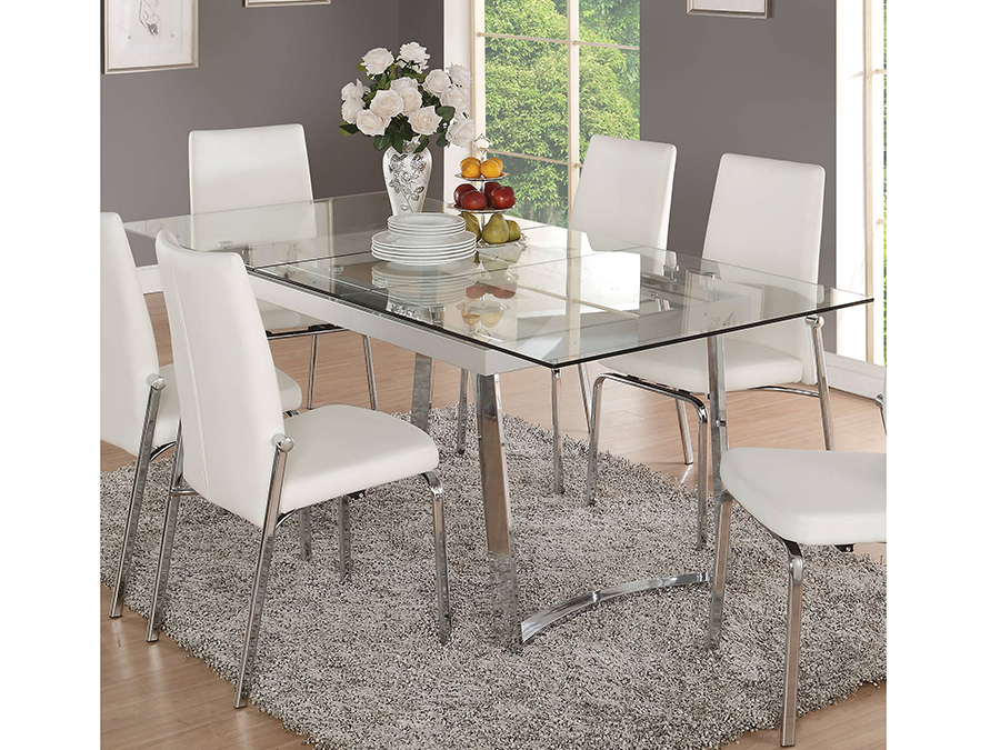 Osias Dining Table In Chrome