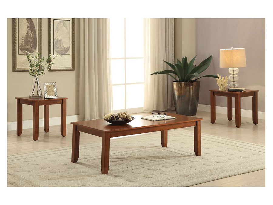 Cherry 3 Piece Occasional Table Set