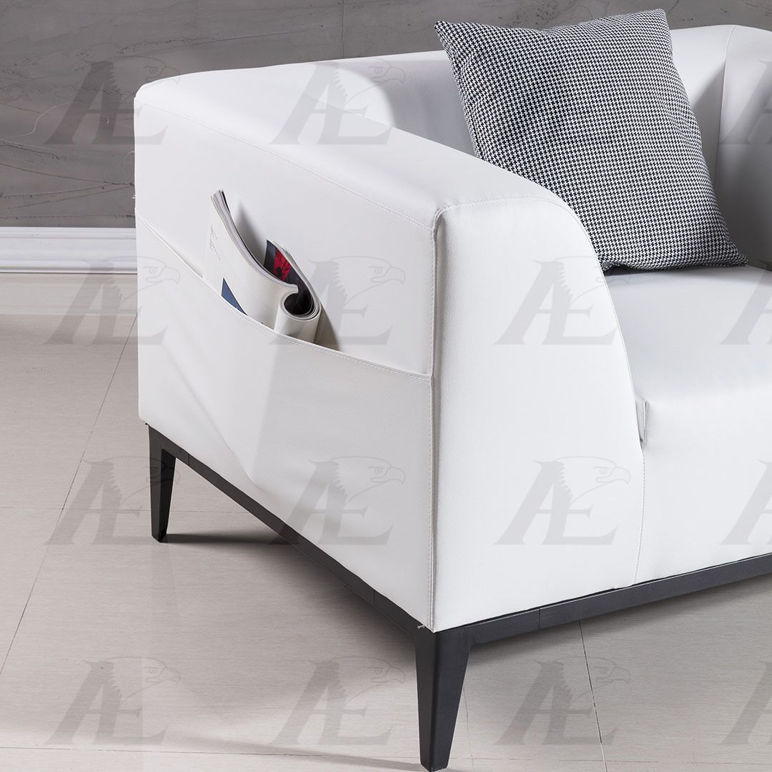 white faux leather sofa set shop for affordable home furniture decor outdoors and more. Black Bedroom Furniture Sets. Home Design Ideas