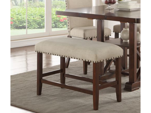 Cream Seat Counter Height Bench
