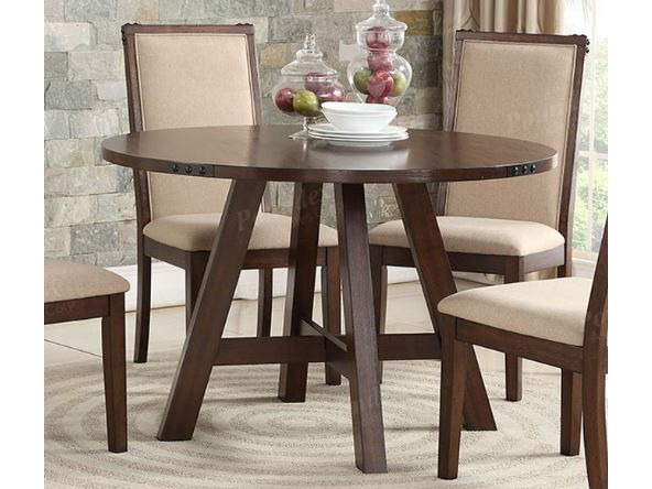 Medium Brown Natural Wood Round Dining Table Shop For Affordable