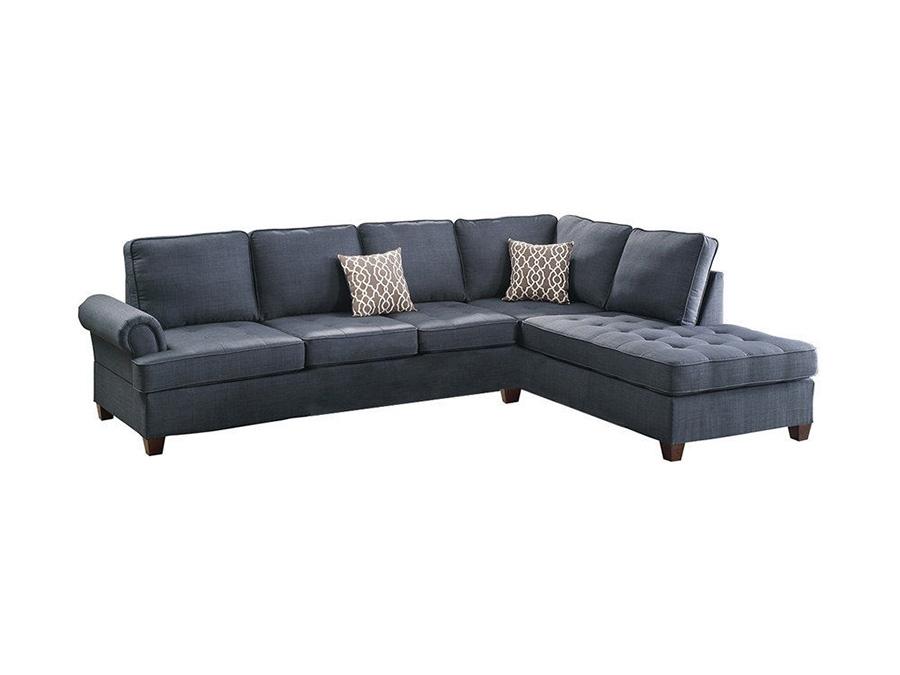 Sectional Sofa In Dark Blue