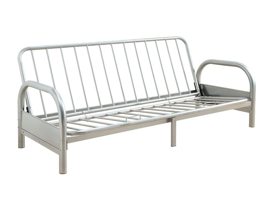 Alfonso Arm Span Silver Sofa Bed Futon Metal Frame Shop For