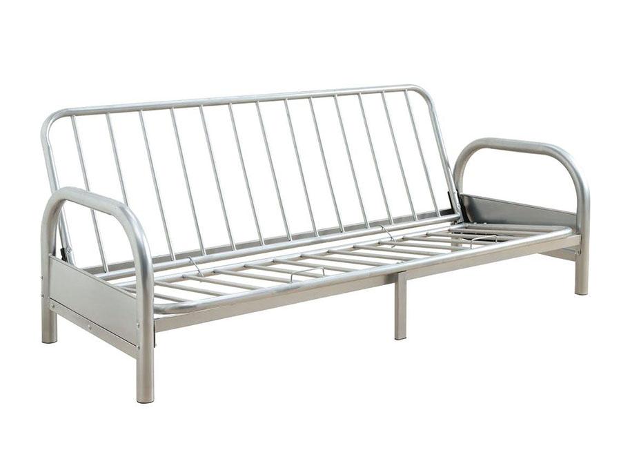 Alfonso Arm Span Silver Sofa Bed Futon Metal Frame